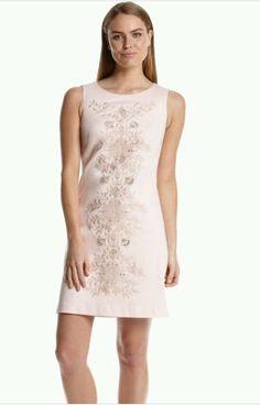 Calvin Klein Women's Embroidered Shift Dress Pink Size 10 | eBay