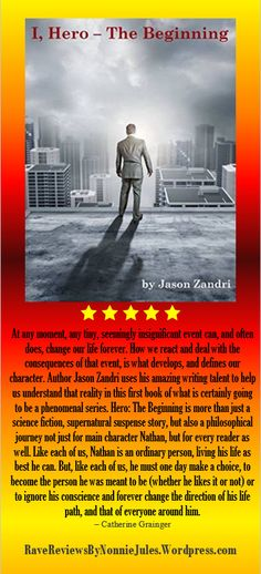 You #mustread this book, I,Hero - The Beginning, by Jason Zandri @gunderstone #RRBC find your hero today!