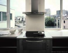 Modern Black Kitchen Cabinets #12 (Kitchen-Design-Ideas.org)
