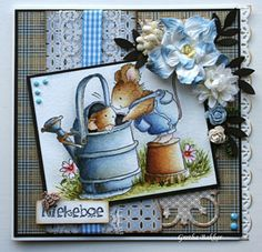 Het kaartenhoekje van Gretha: Penny Black Hello Dear I went to Penny Black's web page and couldn't find this cute stamp. Penny Black Karten, Penny Black Cards, House Mouse Stamps, Card Making Designs, Spellbinders Cards, Card Tags, Card Kit, Beautiful Handmade Cards, Kids Cards