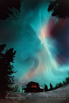 On this evening, a green aurora in the northern sky sent my spirits soaring as the hope for good things grew. Beautiful Sky, Beautiful Landscapes, Beautiful World, Beautiful Places, All Nature, Science And Nature, Amazing Nature, Aurora Borealis, Northen Lights