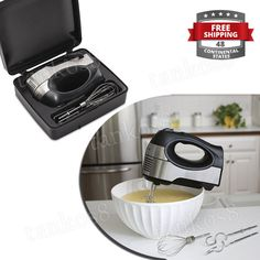 · Set includes 2 beaters, whisk, and 2 dough hooks. convenience and comfort with the Small Mixer whit Storage Case. With a soft-grip handle for easy use and three mixing attachments, this versatile mixer is your go to appliance for blending, creaming, kneading and folding. | eBay!