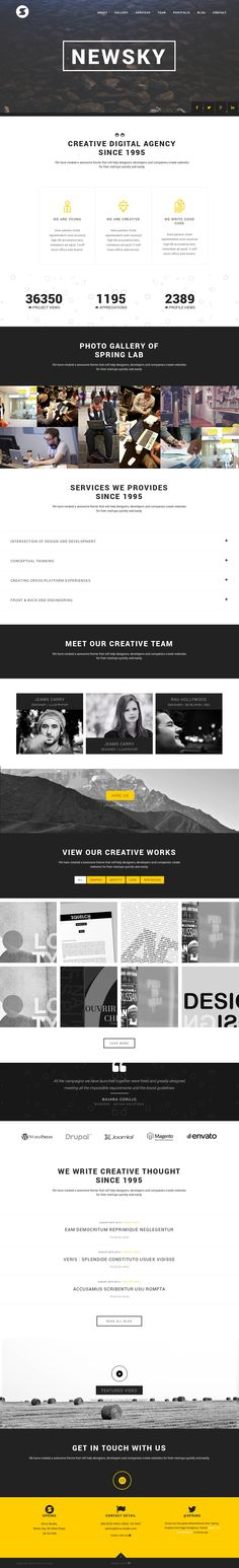 Spring - Creative One Page Wordpress Theme #web #design