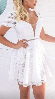 White Dress, Dresses, Fashion, Vestidos, Moda, White Dress Outfit, Fashion Styles, Dress, Dressers