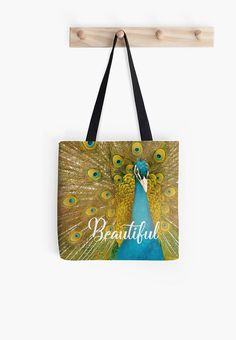 Peacock Beautiful tote bag bird bag grocery tote grocery tote