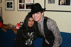 Adam Lambert & Sajini (‏@SajiniB). Pic taken at Glam Nation Tour London.