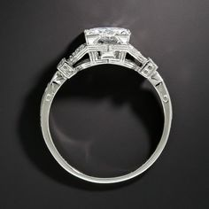 Tacori Art Deco Sterling Silber 925 Verlobungsring Silber Sterling