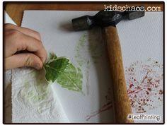 Natural Hammered Leaf Printing