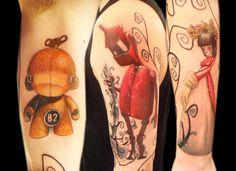Robot Tattoo by Miguel Angel / Custom Tattoo Artist, London UK