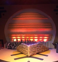 Lion King Jr. set by Give 'Em Props Studio.  Set design by Cheryl Dewenter, Director Langston Hughes Middle School