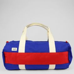 Ball Park Duffle - Blue/Red, $150.00 by Blk Pine Workshop