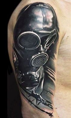 Realistic black and gray Mask tattoo works by U Gene Wörter Tattoos, Badass Tattoos, Word Tattoos, Body Art Tattoos, Sleeve Tattoos, Black And Grey Tattoos Sleeve, Tattoos For Women Half Sleeve, Black Tattoos, Tattoos For Guys