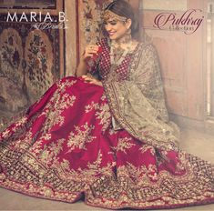 This Maria.B Pukhraj Bridal Dress Collection 2018 is featured with six outclass and out of this world bridal dresses. Indian Bridal Outfits, Pakistani Wedding Dresses, Pakistani Outfits, Indian Dresses, Wedding Lehanga, Pakistani Couture, Bridal Dresses 2018, Wedding Dresses For Girls, Bridal Gowns