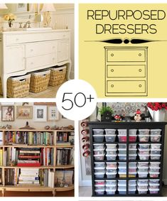 50 Plus Repurposed Dresser Projects to Make — Saved By Love Creations