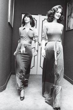 Diane von Fürstenberg: FashionDresses, Fall/Winter 1974, Topics | The Red List Jeanne Damas, Pantalon Large, Studio 54, Von Furstenberg, Parisian, Designer Dresses, High Waisted Skirt, Wrap Dress, Two Piece Skirt Set