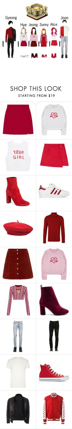 """Bitter Sweet Debut Stage - Heart Club"" by pastelgothprincess27 ❤ liked on Polyvore featuring Yves Saint Laurent, adidas, Brixton, Gucci, House of Holland, Raye, April 77, Giorgio Brato, River Island and Converse"