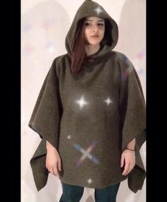 Wool Poncho, Woman, Sweatshirts, Sweaters, Fashion, Moda, Fashion Styles, Women, Trainers