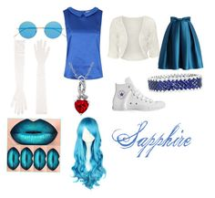 Sapphire Closet Cosplay by thecrystalheart on Polyvore featuring Louche, WearAll, Chicwish, Converse, Illesteva and Gentryportofino