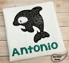 Orca Whale Applique - 4 Sizes! | What's New | Machine Embroidery Designs | SWAKembroidery.com Beau Mitchell Boutique