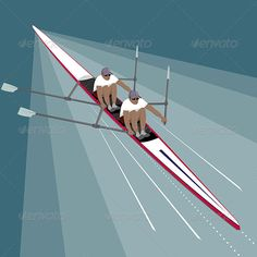 Rowing Teamwork Sport - Sports/Activity Conceptual