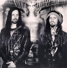 1993. RZ and Eerie Von of Danzig hanging at the HR Giger museum in Switzerland. Good times.