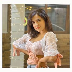 Shirley Setia, Celebrity Photography, My Crush, Beautiful Celebrities, Bollywood Actress, Ruffle Blouse, Celebs, Actresses, Lace