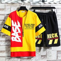 ://lztees.com/product/short-sleeved-t-shirt-men-fashion-popular-logo-tracksuit-casual-summer-clothing/ Popular Logos, Tracksuit Set, Casual Summer Outfits, Shirt Men, T Shirt, Summer Clothing, Joker, Korean