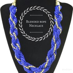Blended Rope Necklace   www.desideratadecor.com