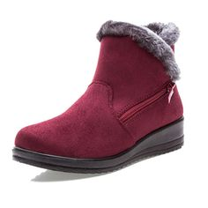 New Large Size Women Winter Boots Round Toe Ankle Short Snow Boots - Banggood Mobile