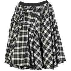 D&G Black/White Tartan Skirt (245 AUD) ❤ liked on Polyvore featuring skirts, bottoms, saias, faldas, plaid skirt, d&g skirt, tartan pleated skirt, black white skirt and tartan skirt