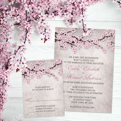 Start your spring wedding shopping now with this rustic abstract cherry blossom wedding invitation set!  Shop for this set here: http://lemonleafprints.com/wedding-invitations-rustic-pink-cherry-blossom.html  Design by @artisticallyinvited  #springwedding #springweddings #wedding #weddings #weddinginvitations #weddinginvitation #weddinginvites #weddinginvite #invitations #invitation #invites #invites #cherryblossoms #spring #floral #rustic