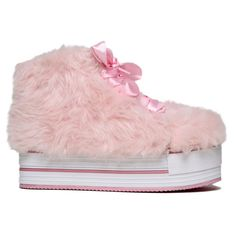 5e6b38bff94c Y.R.U. Elevation Fur Platform Sneakers in Pink Hipster Shoes