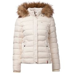 Tommy Hilfiger Martina down bomber ($255) ❤ liked on Polyvore featuring outerwear, jackets, cream, women, tommy hilfiger, bomber jacket, flight jacket and blouson jacket