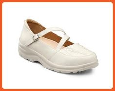 Dr. Comfort Betsy Women's Therapeutic Diabetic Extra Depth Shoe: Ice 6.5 Medium (A-B) Velcro - Loafers and slip ons for women (*Amazon Partner-Link)