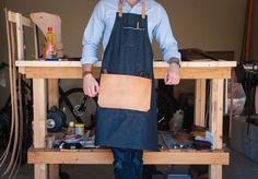 Selvedge Denim & Leather Apron - Made in U.S.A. $85.00 AmericanNative
