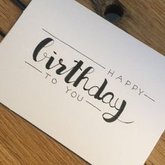 diy birthday cards for mom Handlettering birthday card Birthday Cards For Her, Bday Cards, Handmade Birthday Cards, Card Birthday, Birthday Greetings, Birthday Ideas, Birthday Quotes, Birthday Gifts, Drawn Birthday Cards