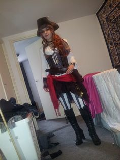 My costume for EFF haarzuilens 2014.. yes its a mess in the hallway :P