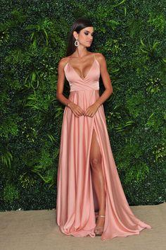 Stunning Prom Dresses, Pretty Prom Dresses, Pink Prom Dresses, Grad Dresses, Satin Dresses, Ball Dresses, Elegant Dresses, Beautiful Dresses, Ball Gowns
