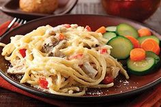 This updated pasta dish is scrumptious. Made over chicken tetrazzini