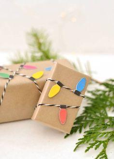 regalos-de-navidad-con-guirnalda-de-flores Envolver Regalos aa7365f94df