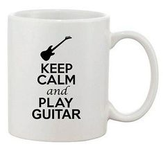 Keep Calm and Listen To Rock n Roll Personalised White Ceramic Mug
