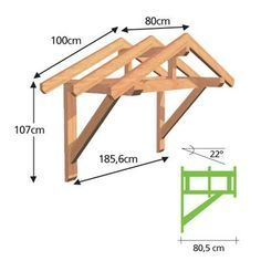 fachwerkhaus Woodworking Projects Gallery Although age-old with strategy, a pergola is suffering from somewhat Front Door Awning, Porch Awning, Porch Roof, Easy Woodworking Projects, Woodworking Plans, Door Canopy, House Canopy, Door Crafts, 2x4 Crafts