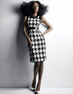 Houndstooth dress :)