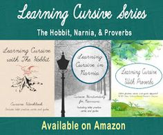 Leading Them TO THE ROCK : Learning Cursive with The Hobbit, Cursive workbook Cursive Handwriting Practice, Learning Cursive, Penmanship, Student Learning, Narnia, Lower Case Letters, The Hobbit, The Rock, Middle School