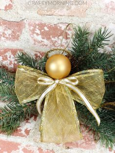 How to Make Ribbon Angel Ornaments - Crafty Morning - Happy Christmas - Noel 2020 ideas-Happy New Year-Christmas Christmas Angel Crafts, Mini Christmas Ornaments, Christmas Ribbon, Holiday Crafts, Christmas Decorations, Christmas Gifts, July Crafts, Crochet Christmas, Homemade Christmas