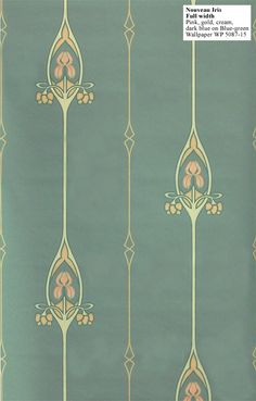 Art nouveau wallpaper from the 1920s that Mrs. Hughes would agree, remains just as refined now. | Downton Abbey, as seen on Masterpiece PBS