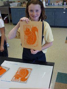 The Calvert Canvas: Adventures in Middle School Art!: 5th Grade Printmaking in Progress