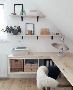 Home Office Space, Home Office Design, Home Office Decor, Office Desk, Kids Room Design, Workspace Inspiration, Home Decor Inspiration, Decor Ideas, Room Ideas Bedroom