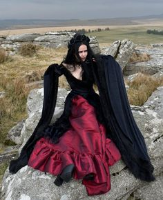 Masque of the Red Death Gown - Steamed Velvet, Taffeta, Lace and Faux Fur Medieval Goth Dress by Moonmaiden Gothic Clothing