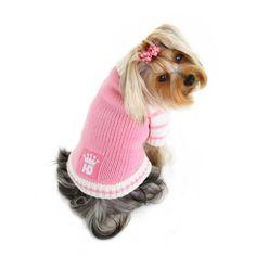 83f038dfbd hd crown cardigan dog sweater pink